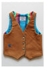 """dashiell"" reclaimed leather vest- churro"