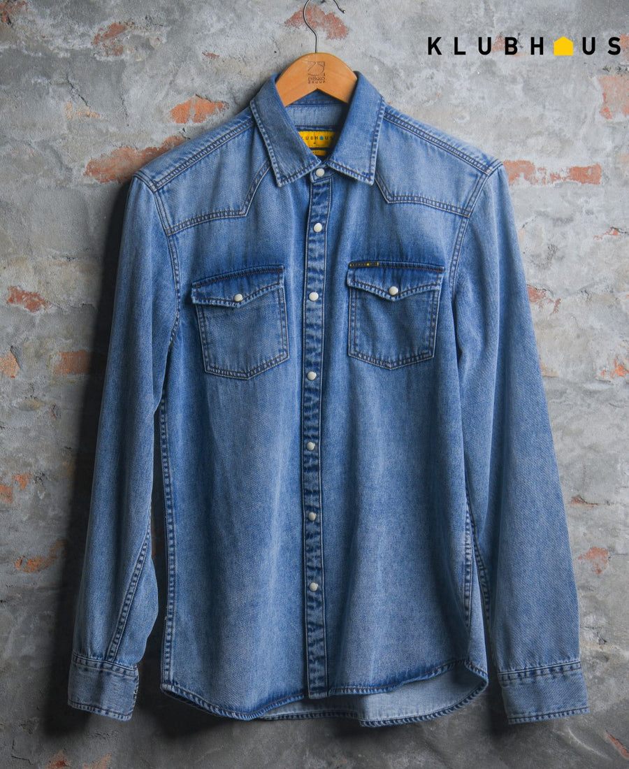 Men's Denim Full Shirt