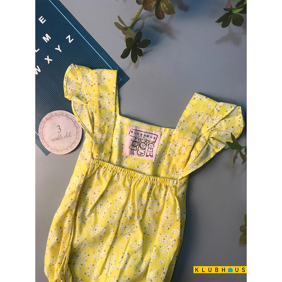 New Born Girl's Romper