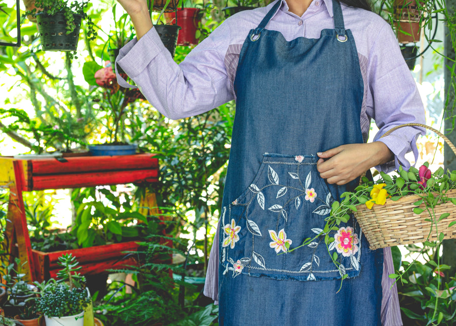 Adult's Apron Floral Harmony