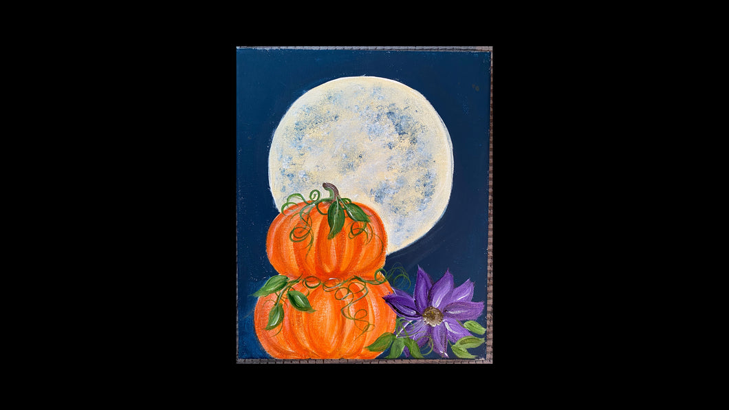 Pumpkins and Moon - Tutorial only