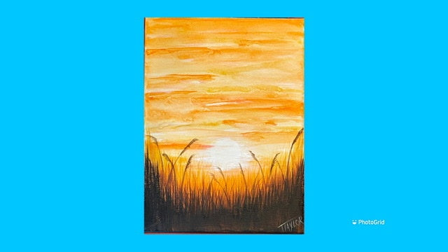 Sunset over Wheat Field - tutorial only