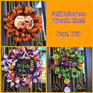 Fall or Halloween Wreath - September 18th  (6:30pm-8:30pm)