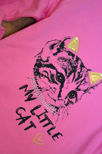 "T-Shirt Langarm pink ""Little Cat"""