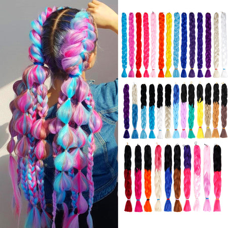 Unicorn Braid Hair Extensions