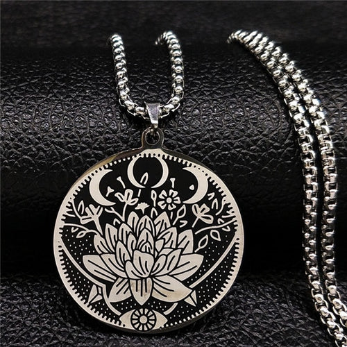 Stainless Steel Goddess Necklace