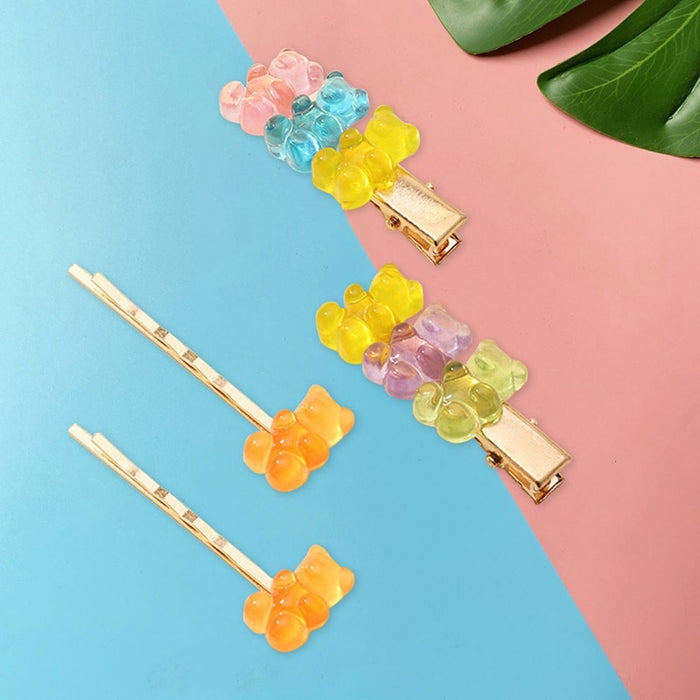 Gummy Bear Hairpins and Barrette Set