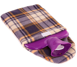 Tartan Fleece Hot Water Bottle Cover Medisure