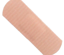 100 Sterile Latex Free Fabric Strip Plasters 7.2cm x 2.5m