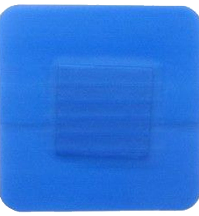 100Pc Blue Detectable Plasters 3.8cm X 3.8cm Qualicare