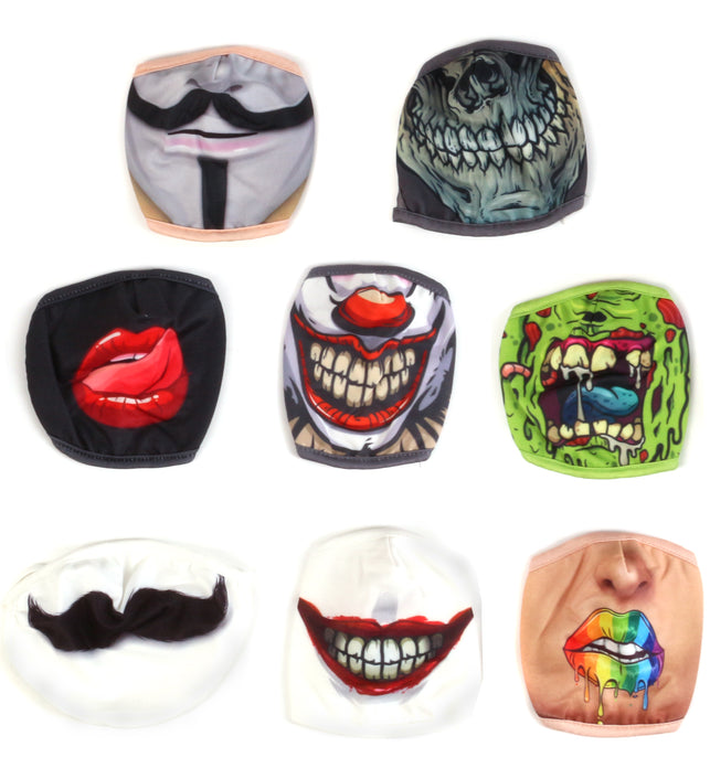 Adult Washable Fabric Face Mask with Printed Design