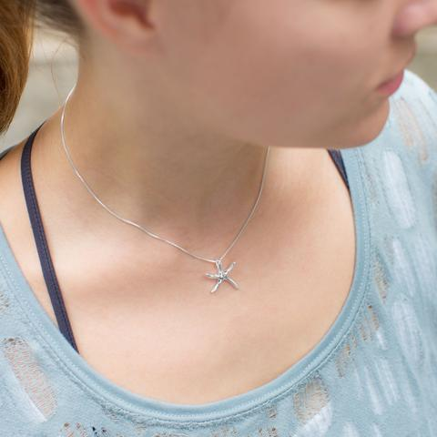 Polished Starfish Slide Necklace