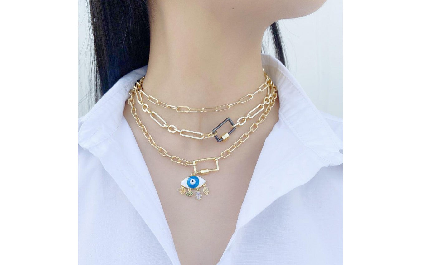 Double Layered Chain Link Necklace