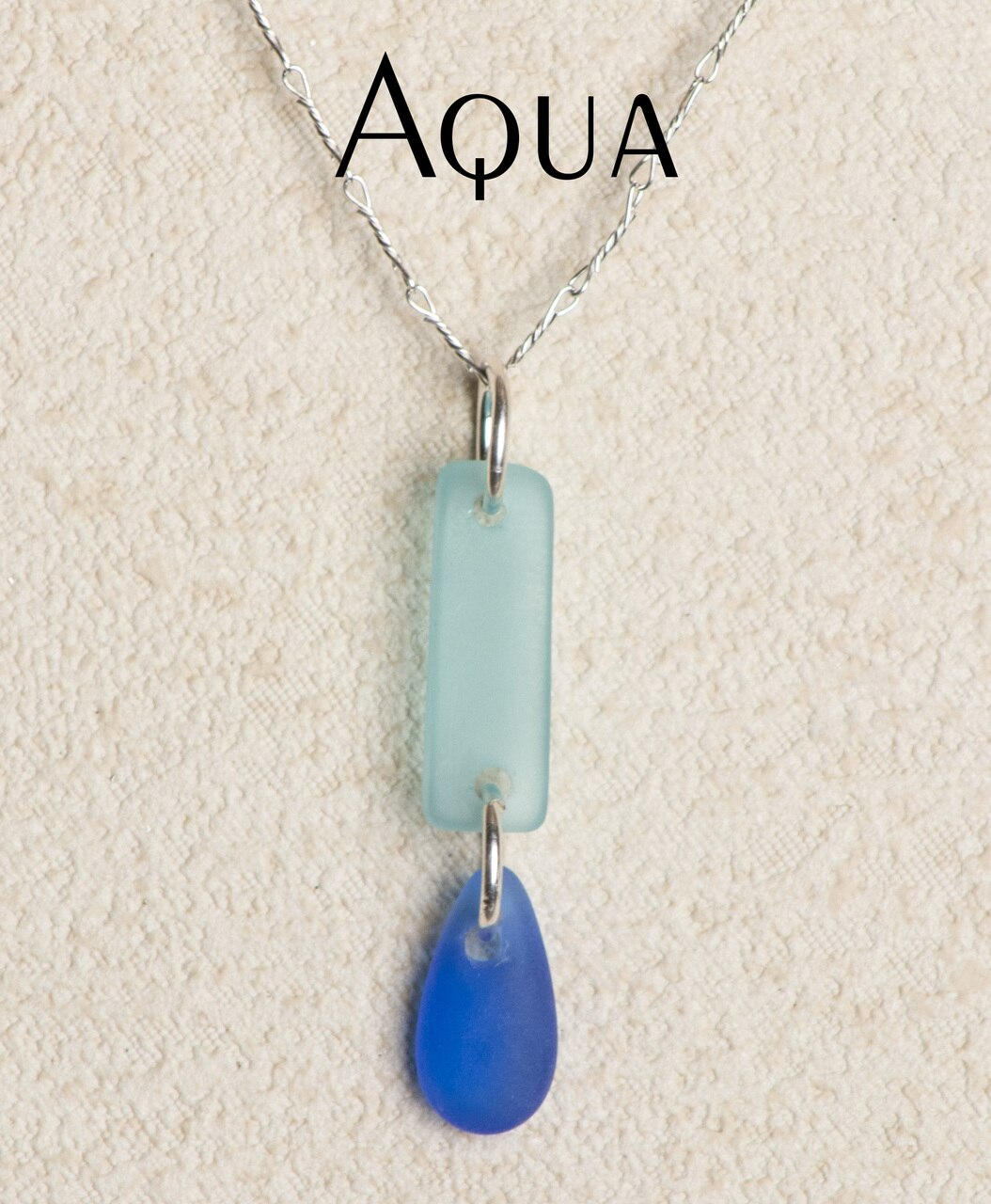 Seaglass Dew Drop Necklace