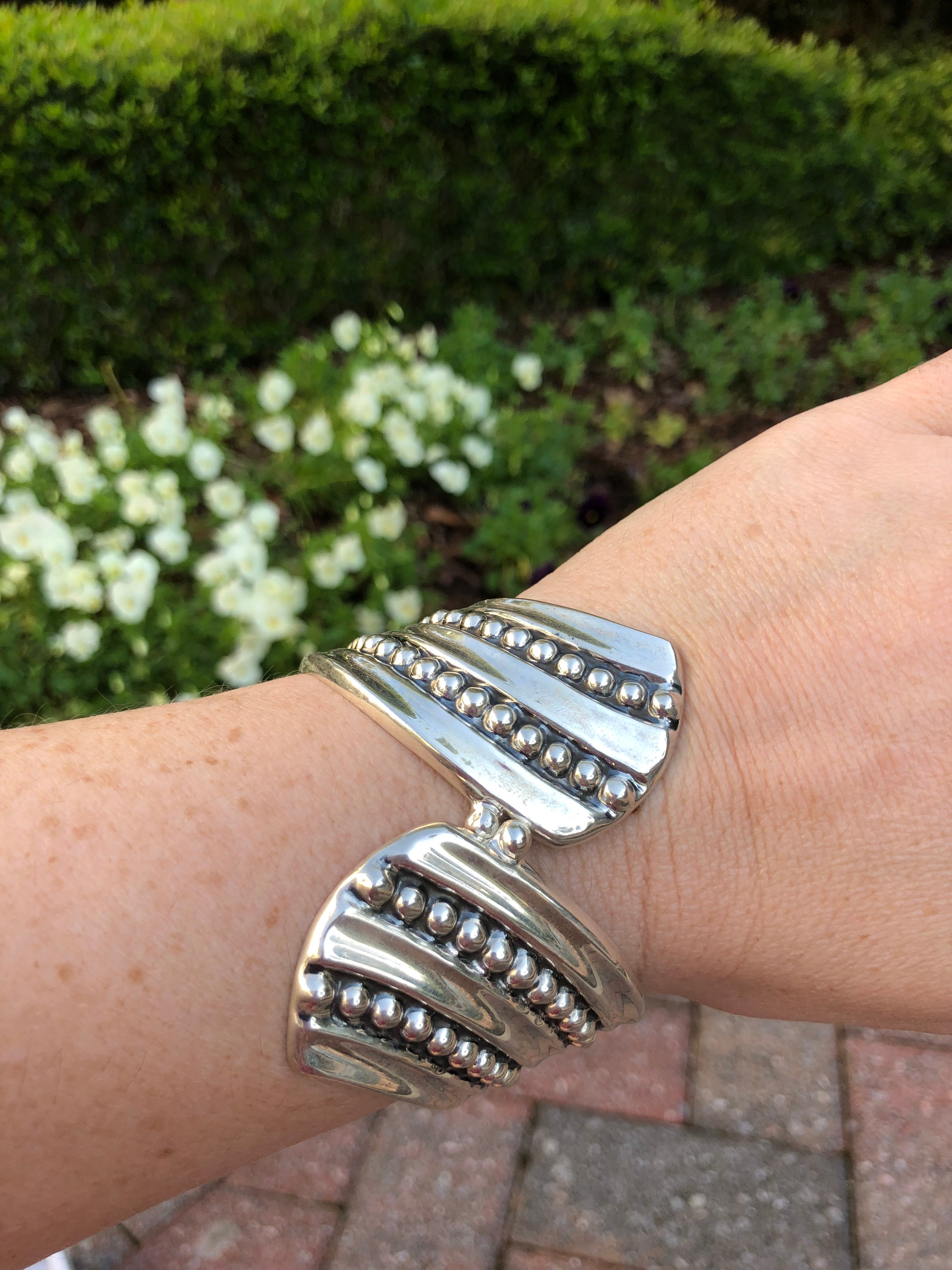 Jaw Dropping Sterling Silver Braceelt
