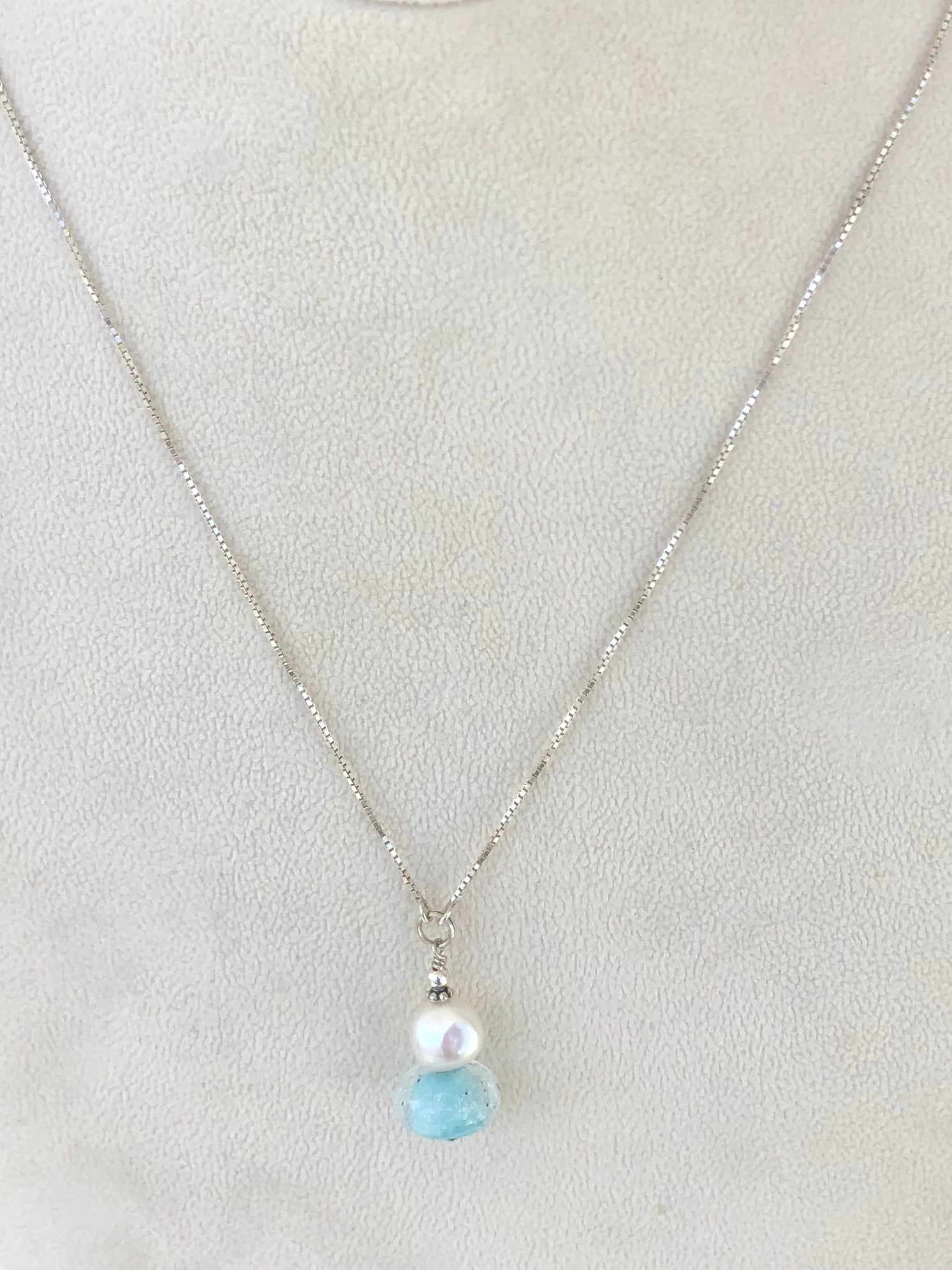 Destin Sand Bead Freshwater Pearl  Necklace
