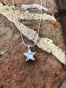 CZ Star Necklace or Pendant in Sterling Siver