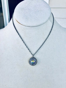 Firefly La Dolce Vita Circle Pendant Necklace, 3 colors available