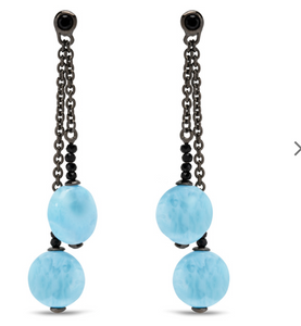 Galaxy Larimar Earrings