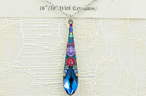Firefly Mosaic Teardrop Necklace