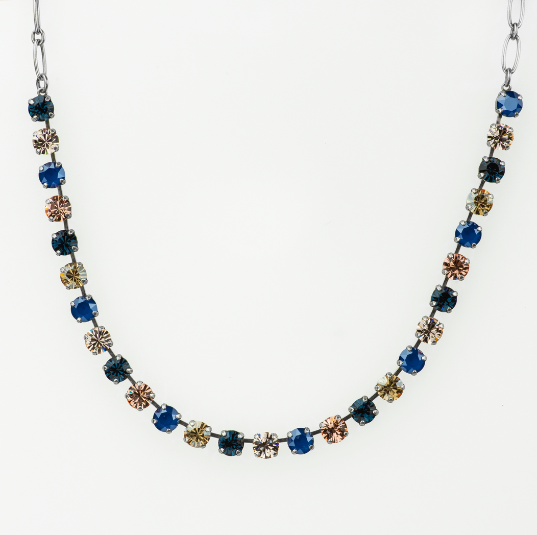 "Mariana [Antiqued Silver] Must-Have Everyday Necklace ""Ocean"""