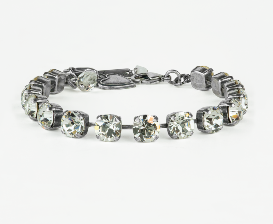 "Mariana Antiqued Silver Petite Everyday Bracelet ""On A Clear Day"""