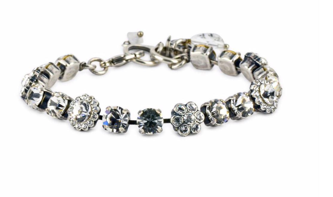 "Mariana Antiqued Silver Tennis Bracelet ""On A Clear Day"""