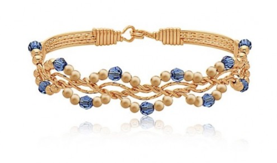 Forget Me Not Ronaldo Bracelet, Swarovski Crystal Birthstone Colors