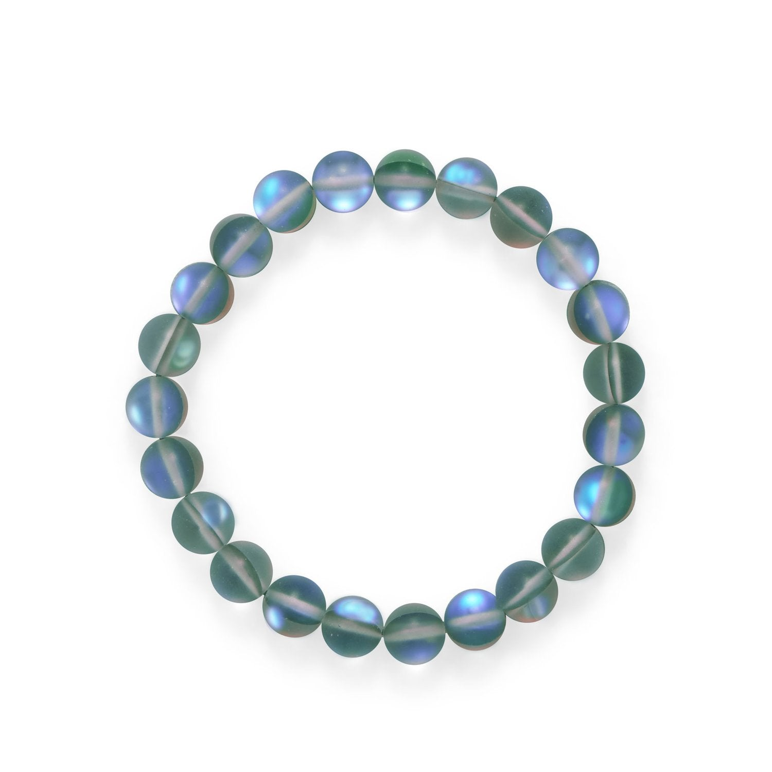 Mermaid At Heart! Grey Iridescent Stretch Bracelet
