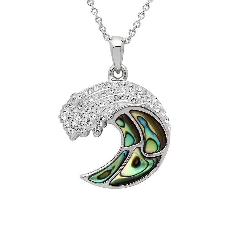 Abalone Shell Wave necklace