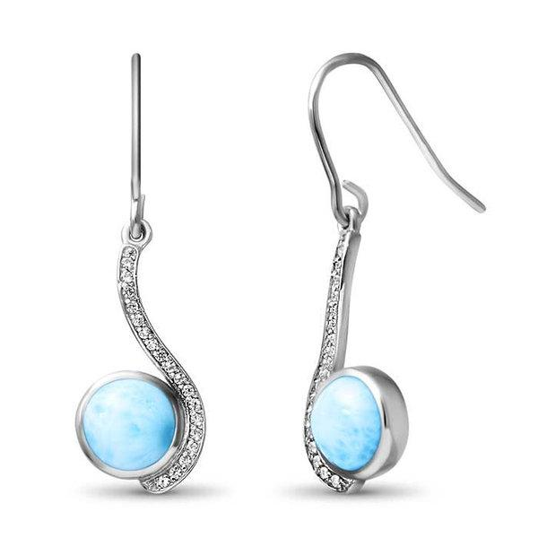 Adella Marahlago Larimar Earrings