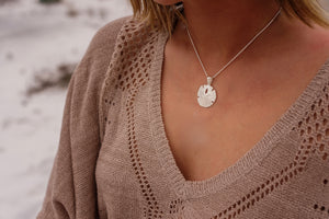 Sterling Silver Sand Dollar Necklace in Large