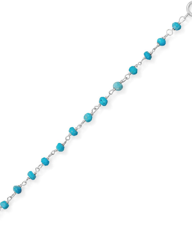 Turquoise Sterling Silver Anklet