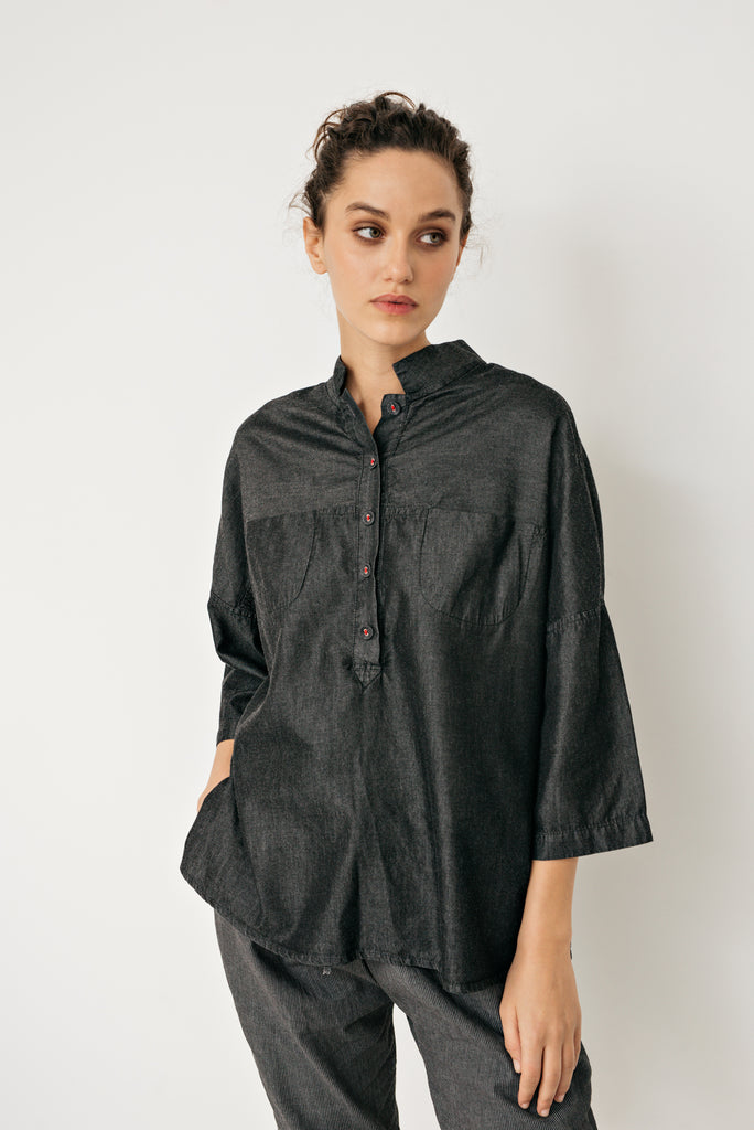 Yuan denim shirt- Dark denim