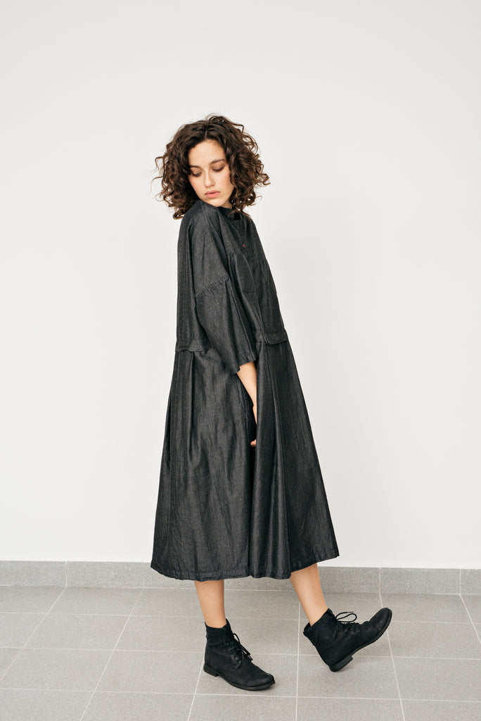 Yuan denim dress- Dark denim
