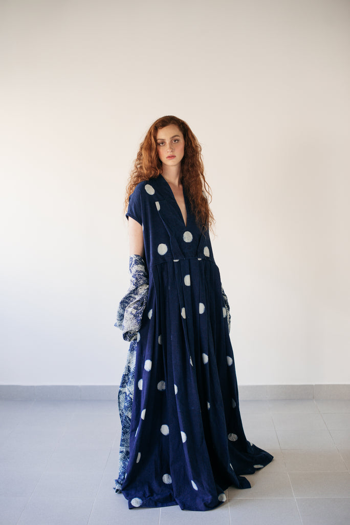 Polka Indigo Dress