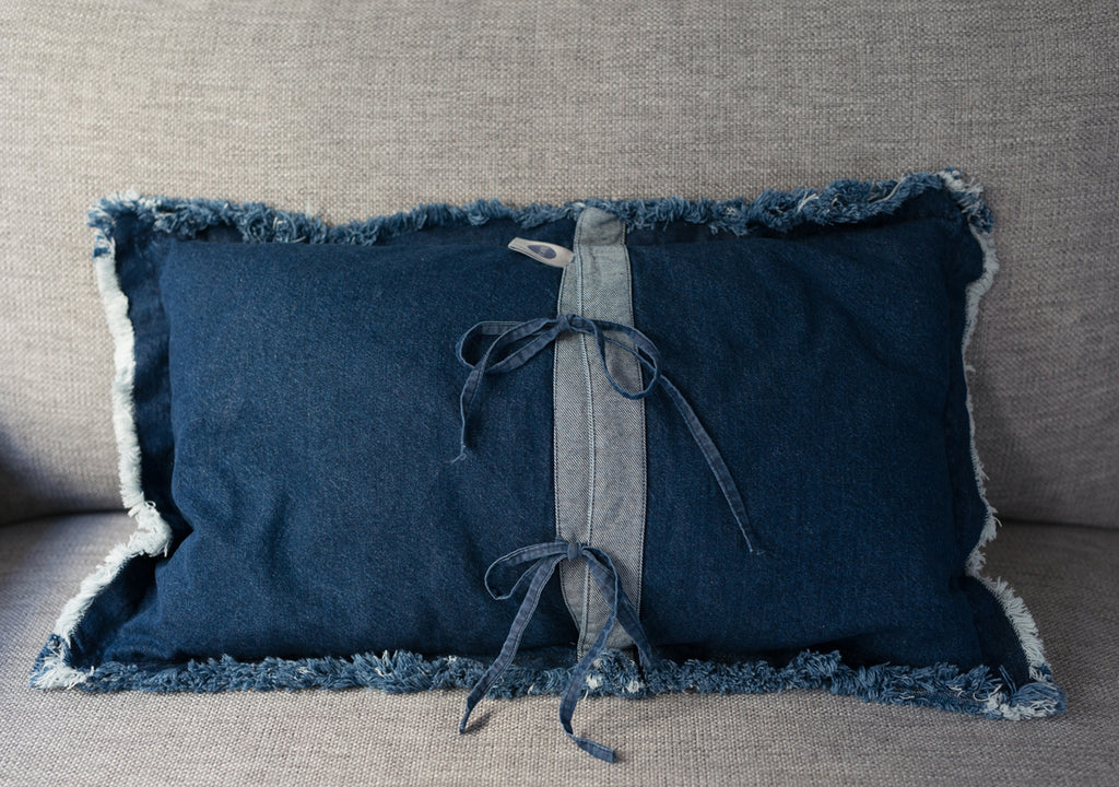 Washed denim pillow 40*65