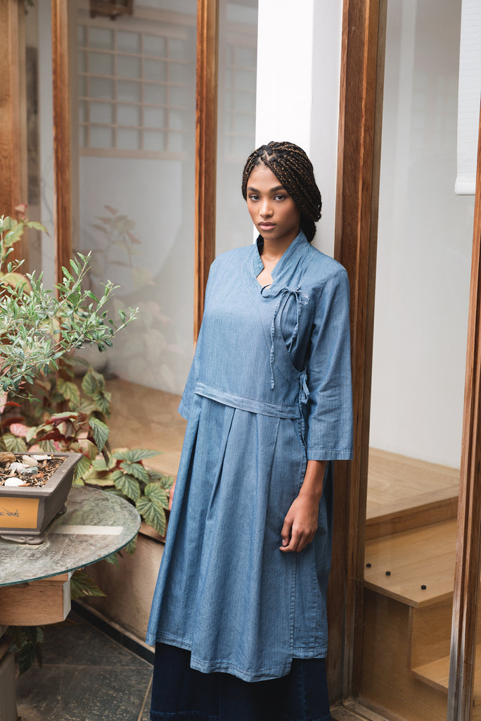 Tibetan denim dress