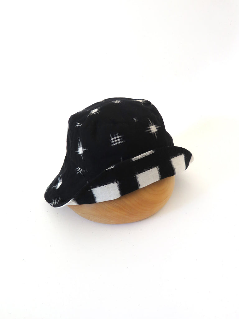 Black Ikat Hat