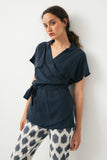 Samurai summer top-  Dark Blue