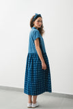 Tahiti Checkers Indigo dress