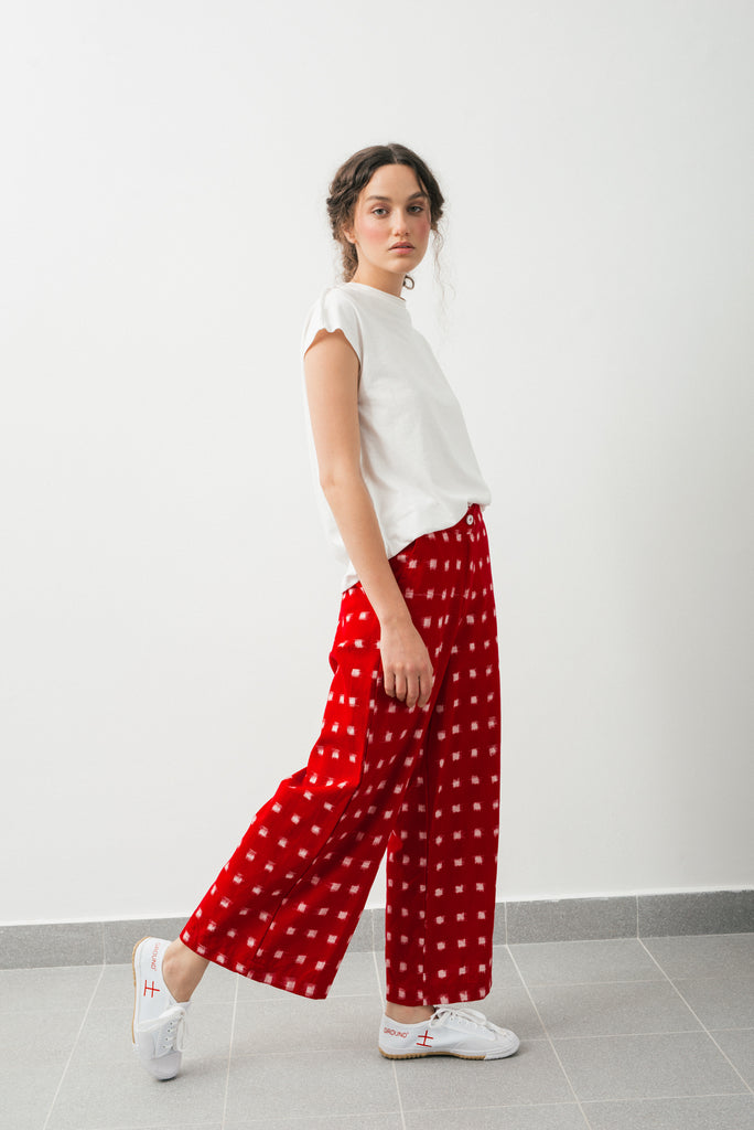 Ikat pants- Red