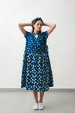 Tahiti dotted Indigo dress