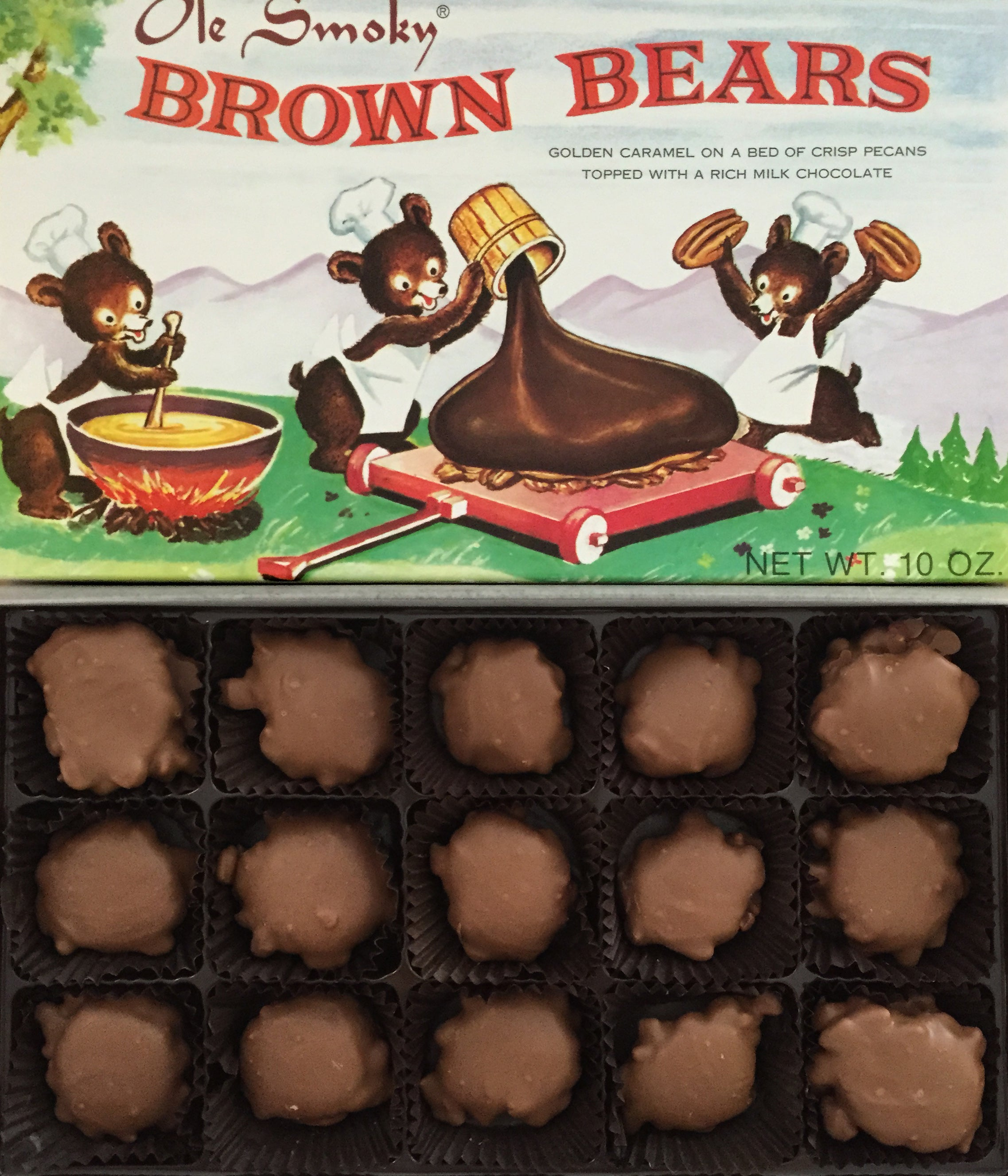 ole smoky candy kitchen chocolate brown bears