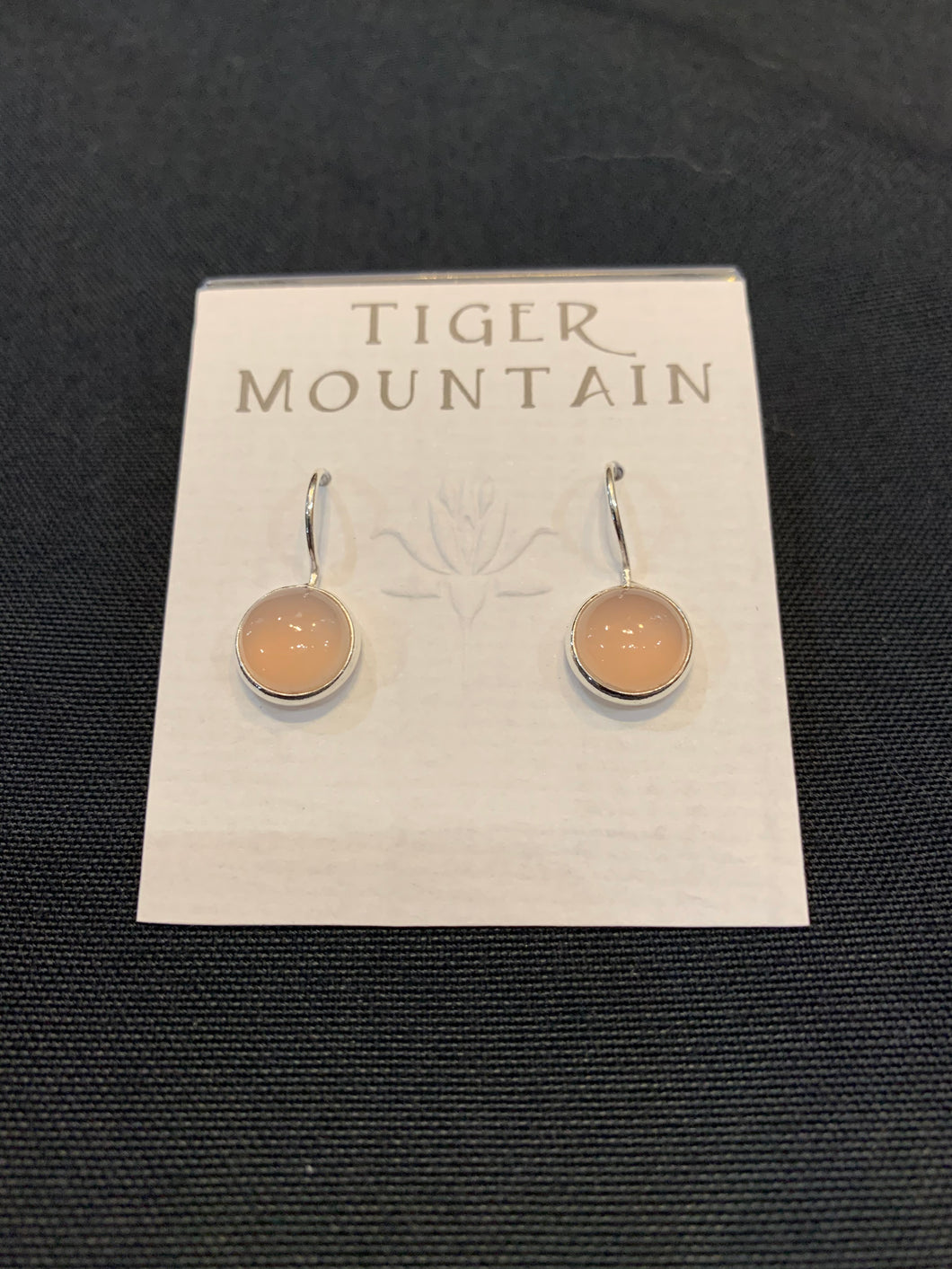 Tiger Mountain Rose Quartz Round Drop Earrings