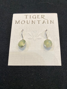 Tiger Mountain Round Agate Drop Earrings