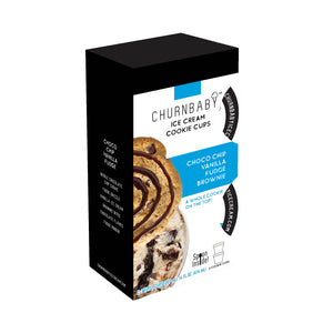 ChurnBaby® Cookie Cups - Choco Chip Vanilla Fudge Brownie