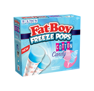 FatBoy® Freeze Pops - Cotton Candy - 6 Count
