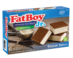 FatBoy® Jr. Gluten-Free Ice Cream Sandwich - 6 Count