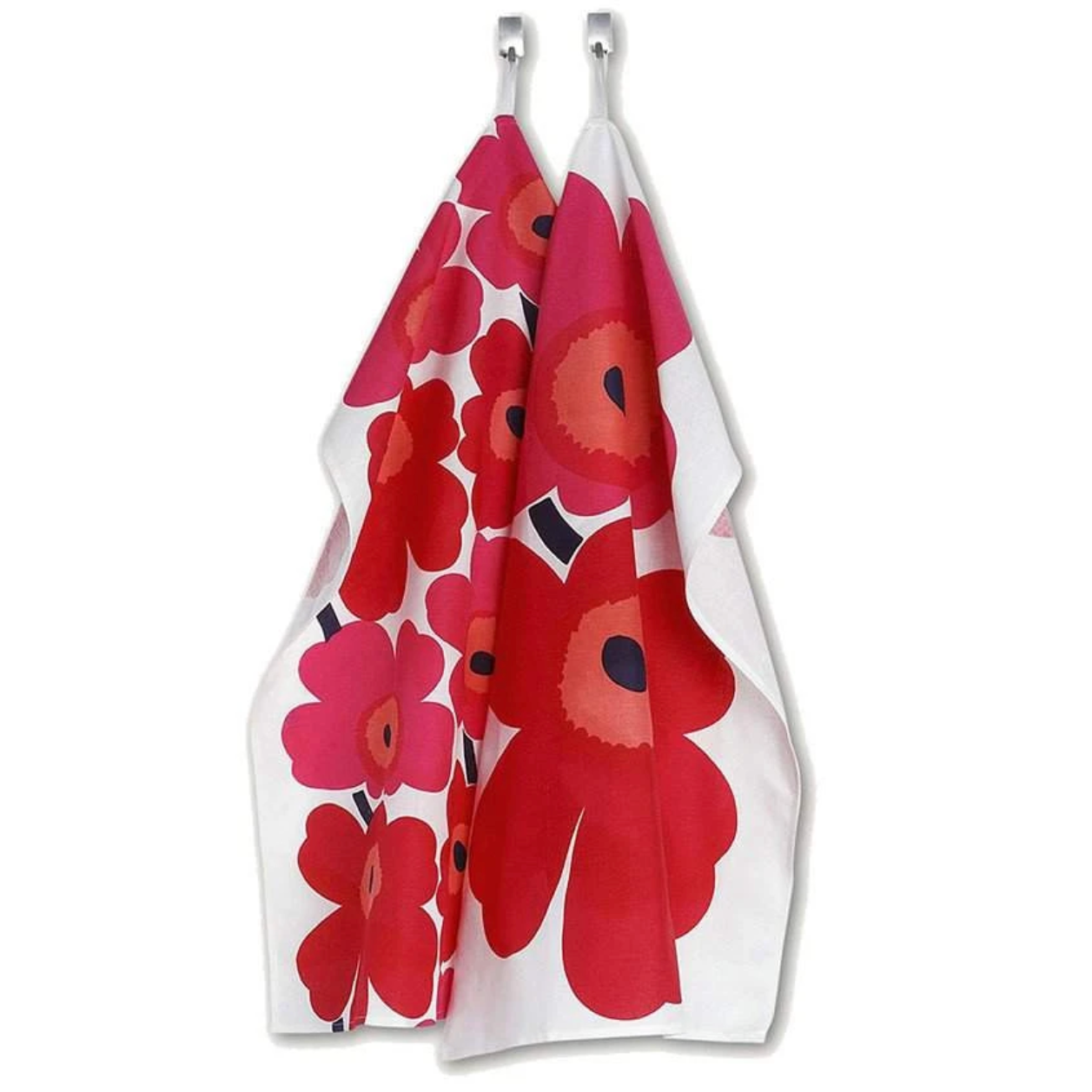 Tea Towels Set/2 - Unikko White/Red